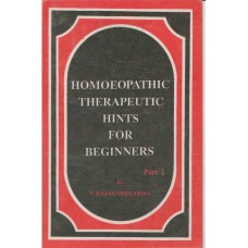 Homoeopathic Therapeutic Hints For Beginners (3 Volume Set)