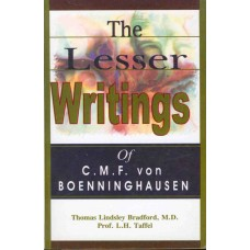 The Lesser Writings of C.M.F.von Boenninghausen
