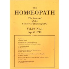 The Homeopath (Journal of S.O.H) 1990 to mid 1993
