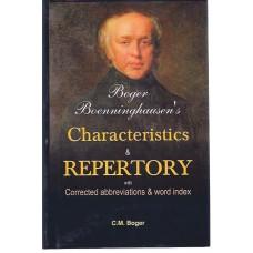 Boger Boenninghausen's Characteristics, Materia Medica and Repertory