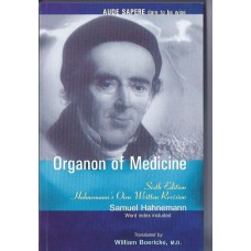 Organon of Medicine (Boericke Translation)